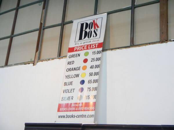 Banner harga - Books Centre Bandung